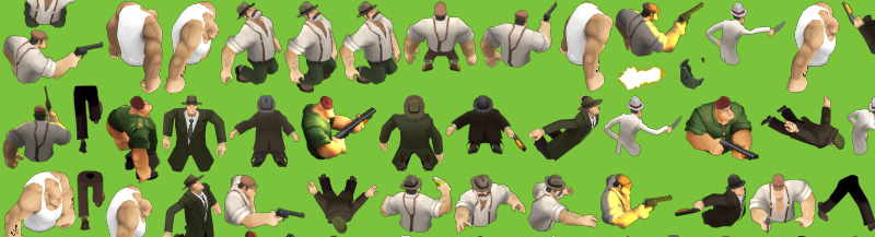 Gangster Squad Tough Justice screenshot_sprites_chars