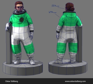 polycount_spaceGirl_wires