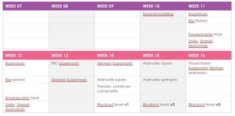planning 3D week 07 -16 2014  2015